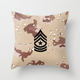 Sergeant Major (Desert Camo) Throw Pillow