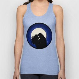 Kissing in the moonlight Unisex Tank Top