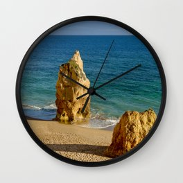 Praia da Rocha rocks Wall Clock