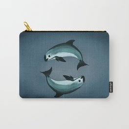 Spiraling ~ Vaquita Porpoise art by Amber Marine (Copyright 2015) Carry-All Pouch