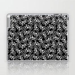 Bicycles Doodle on Black Laptop & iPad Skin