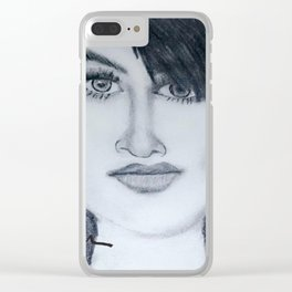 Demi sketch Clear iPhone Case