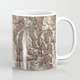 Vintage Map of The White Mountains (1870) Coffee Mug