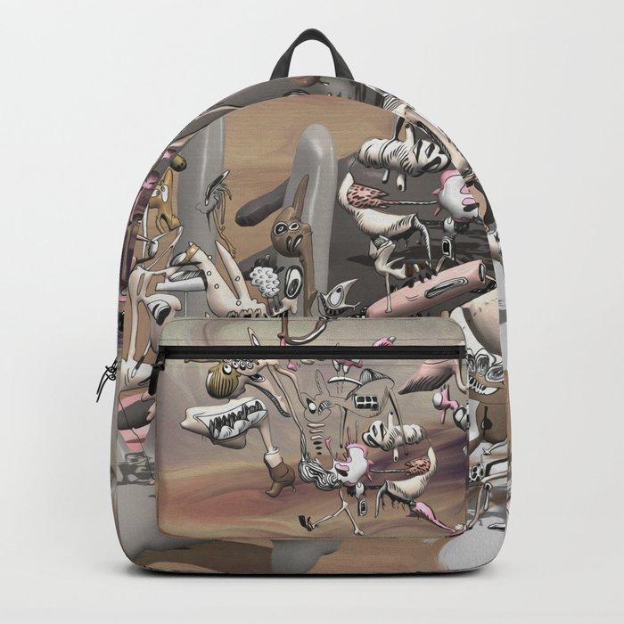 Migration II - surreal doodle sandworld Backpack