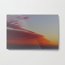 Fire Cloud Mountain Metal Print