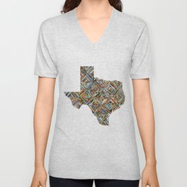 Map of Texas Unisex V-Neck