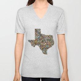 Map of Texas Unisex V-Neck