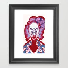 Friendly No Face v3 Framed Art Print