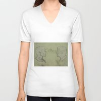 true detective V-neck T-shirts featuring TRUE DETECTIVE by Tomcert