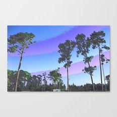 Tall Trees in Enamel Canvas Print