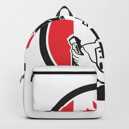 Canadian Barber Canada Flag Icon Backpack