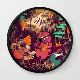 Fire in the jungle #A04 Wall Clock