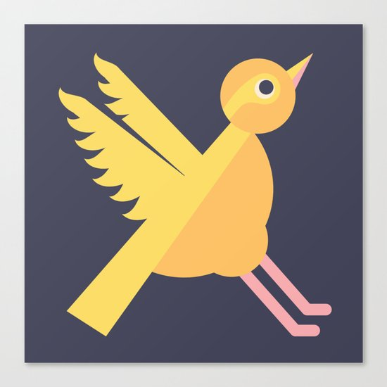 Letter X // Animal Alphabet // Xenops Monogram Canvas Print