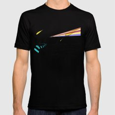 Hipster Laser Dinosaur Mens Fitted Tee Black SMALL