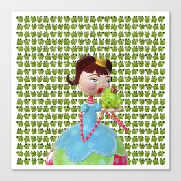 The Princess and the Frog Canvas Print