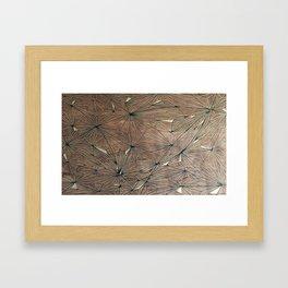 Stare Geometric Fractals on Wood Framed Art Print