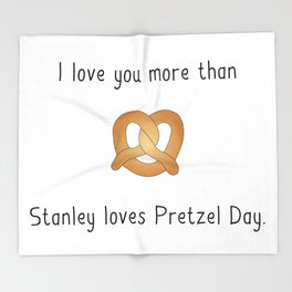 Pretzel Day Throw Blanket