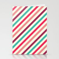 striped Stationery Cards featuring Striped. by Tayler Willcox