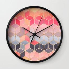 Happy Cubes Wall Clock
