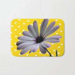 Collage de Flor y diseño Bath Mat