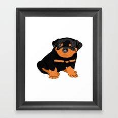 Lovely puppy Framed Art Print
