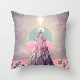 Cado dalle Nuvole Throw Pillow