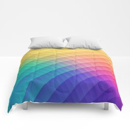 Spectrum Bomb! Fruity Fresh (HDR Rainbow Colorful Experimental Pattern) Comforters