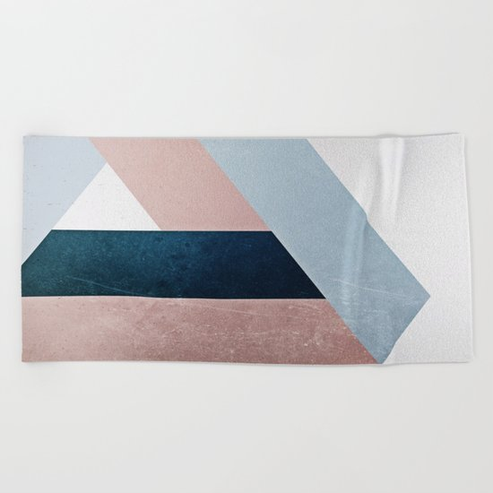 Complex Triangle Beach Towel