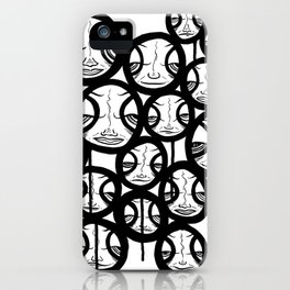 Faces In The Sky iPhone Case