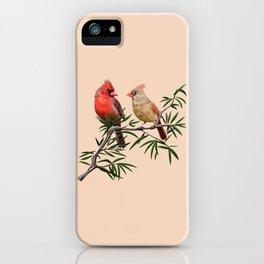 Northern Cardinal Mates iPhone Case