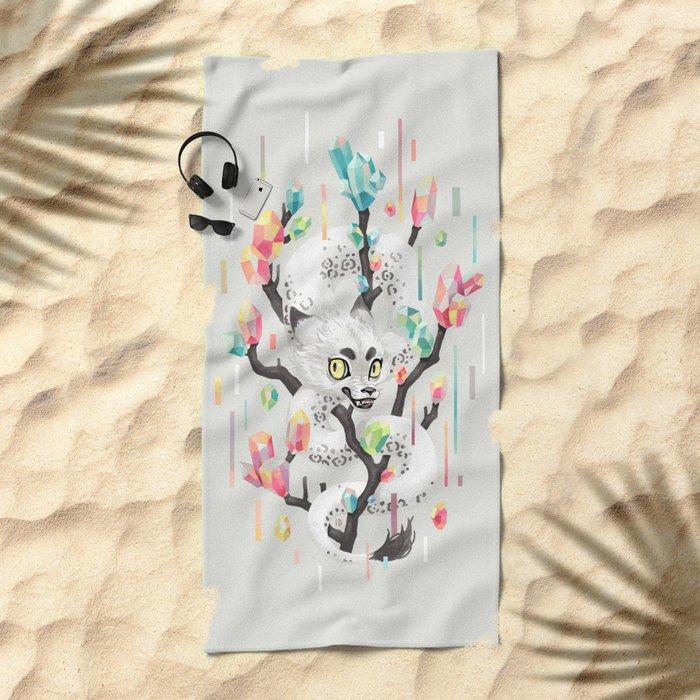 Dragon and His Treasure Beach Towel