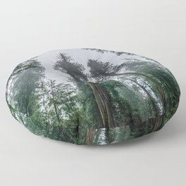 Redwood Forest Adventure IV - Nature Photography Floor Pillow