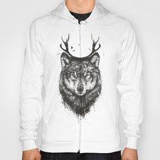 Deer wolf (b&w) Hoody