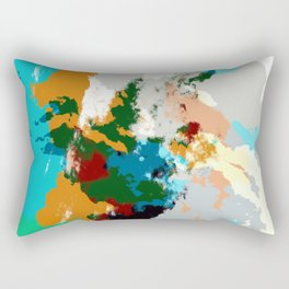 Ikumatsu - Abstract Colorful Batik Camouflage Tie-Dye Style Pattern Rectangular Pillow