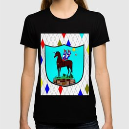 A Mechanical Winged Unicorn with Suns and comet T-shirt