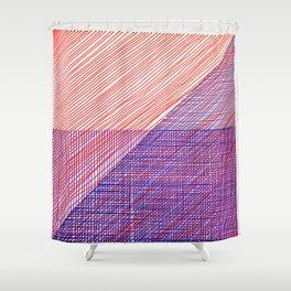 Line Art 3 Shower Curtain