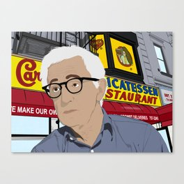 Woody Allen Cartoon Canvas Print