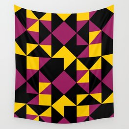Squares, triangles and other polygons in confusion. Wall Tapestry