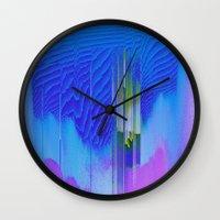waterfall Wall Clocks featuring Waterfall by DuckyB