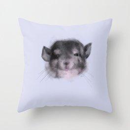 Chinchilla closeup Throw Pillow