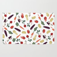 vegetable Area & Throw Rugs featuring Vegetable by Ceren Aksu Dikenci