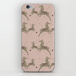 Royal Tenenbaums Zebra Wallpaper - Dusty Pink iPhone Skin