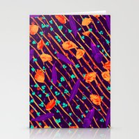 psychadelic Stationery Cards featuring Psychadelic Natural Pattern #5 by Andrej Balaz