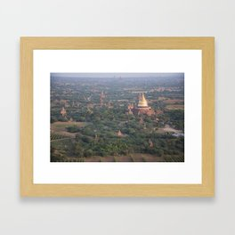 BALLOONING OVER BAGAN'S ARCHAEOLOGICAL ZONE Framed Art Print