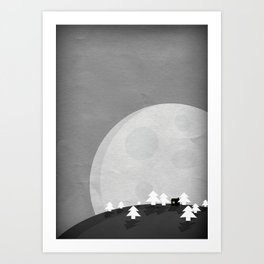 The Lonely House Art Print