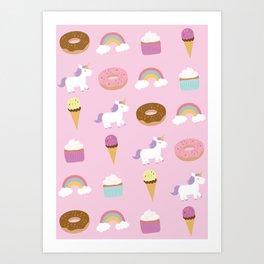 Unicorn Pattern Art Print