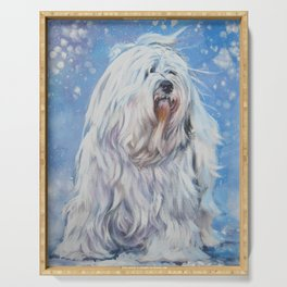 Havanese dog art from an original painting by L.A.Shepard Serving Tray