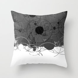 Modern Geometric Pattern Grey White Design Throw Pillow