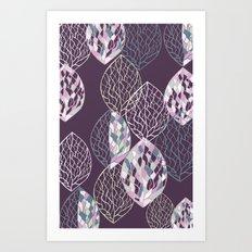 Leaf Print2 Art Print