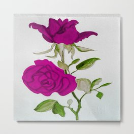 Magnificient Rose Metal Print